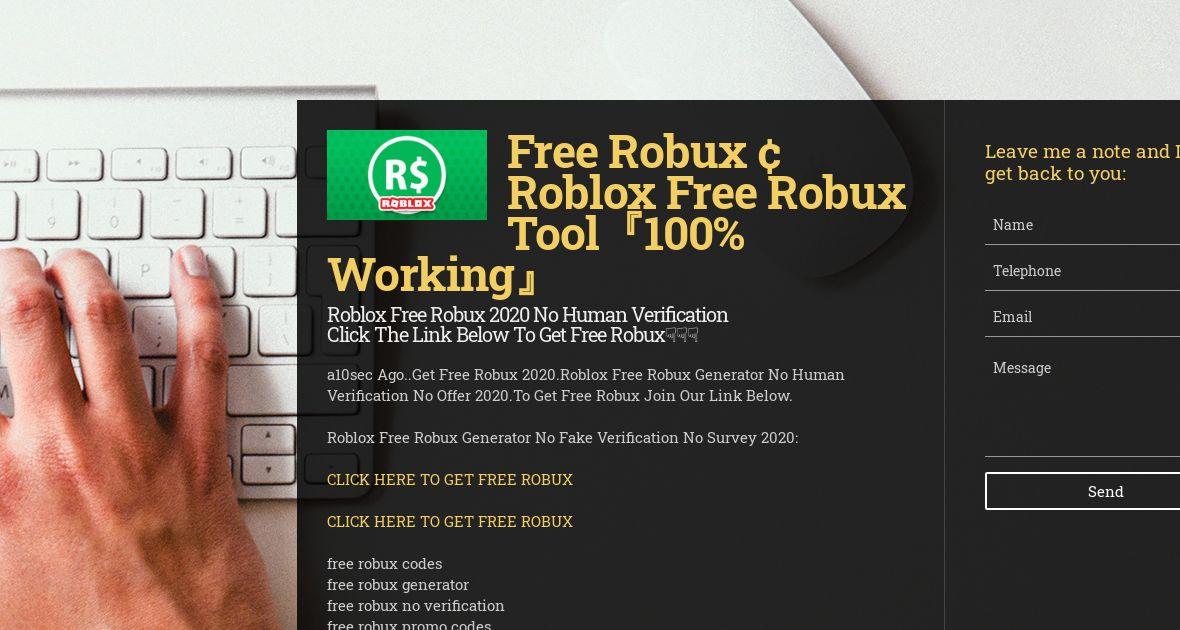 Still Works How To Get Free Robux No Inspect Element No Human Verification Wiseintro Portfolio