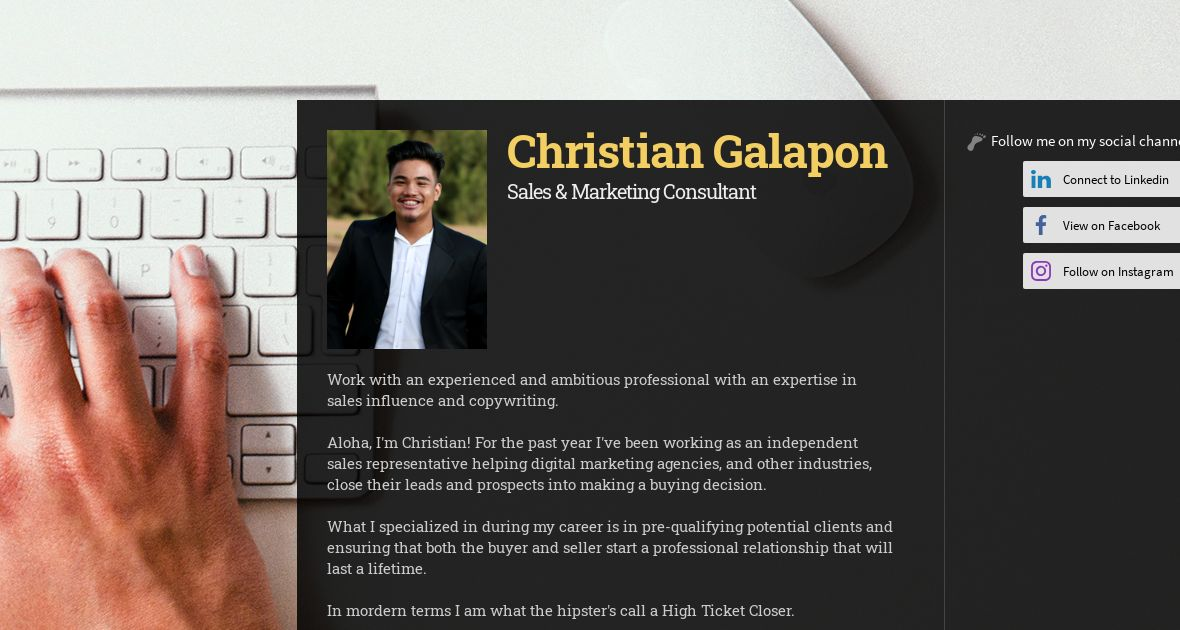 Christian Galapon, Founder at Golden Isle Ventures