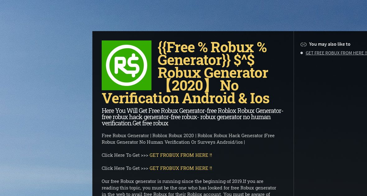 Free Robux Hack Generator No Human Verification Or Survey