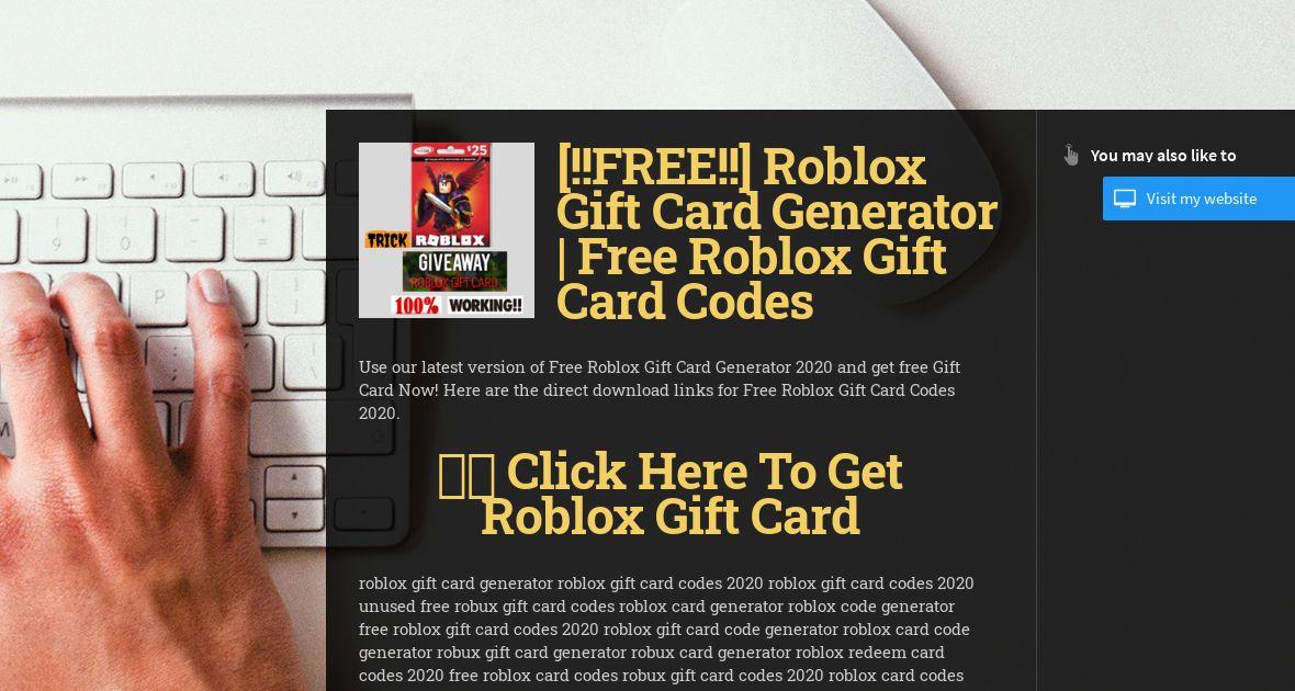 Get Code Robux Wiseintro Portfolio