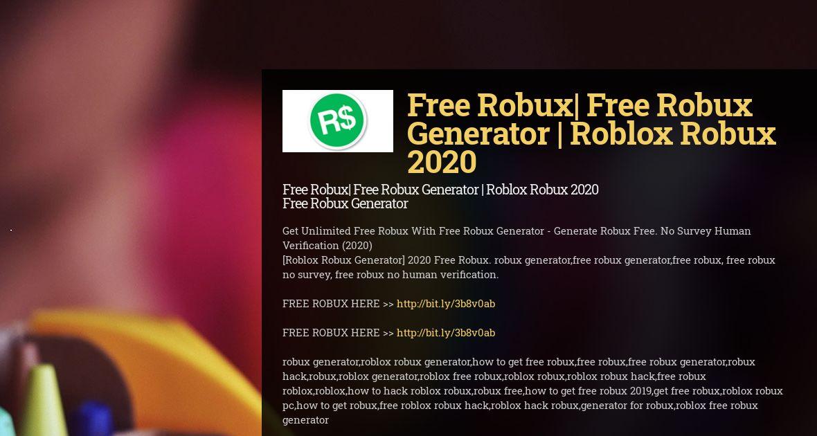Free Robux Generator 2020 Hack Wiseintro Portfolio
