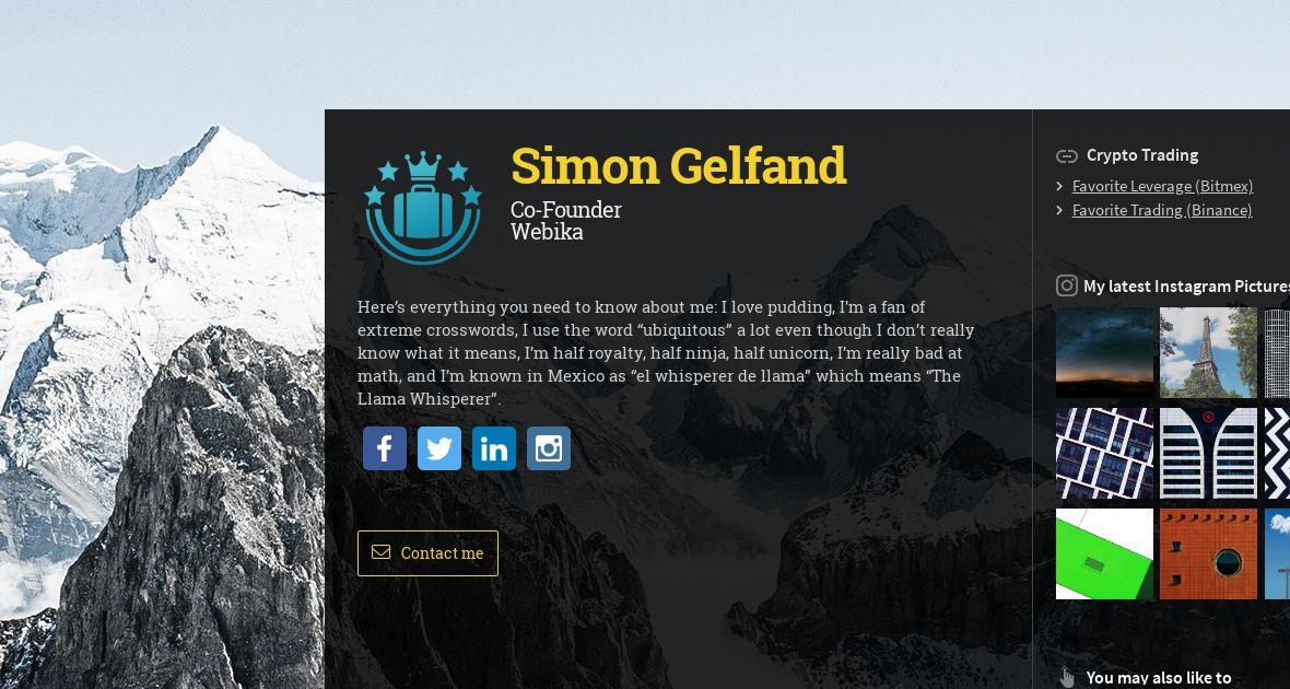 Simon Gelfand, Co-Founder at BetterHotel | WiseIntro Portfolio