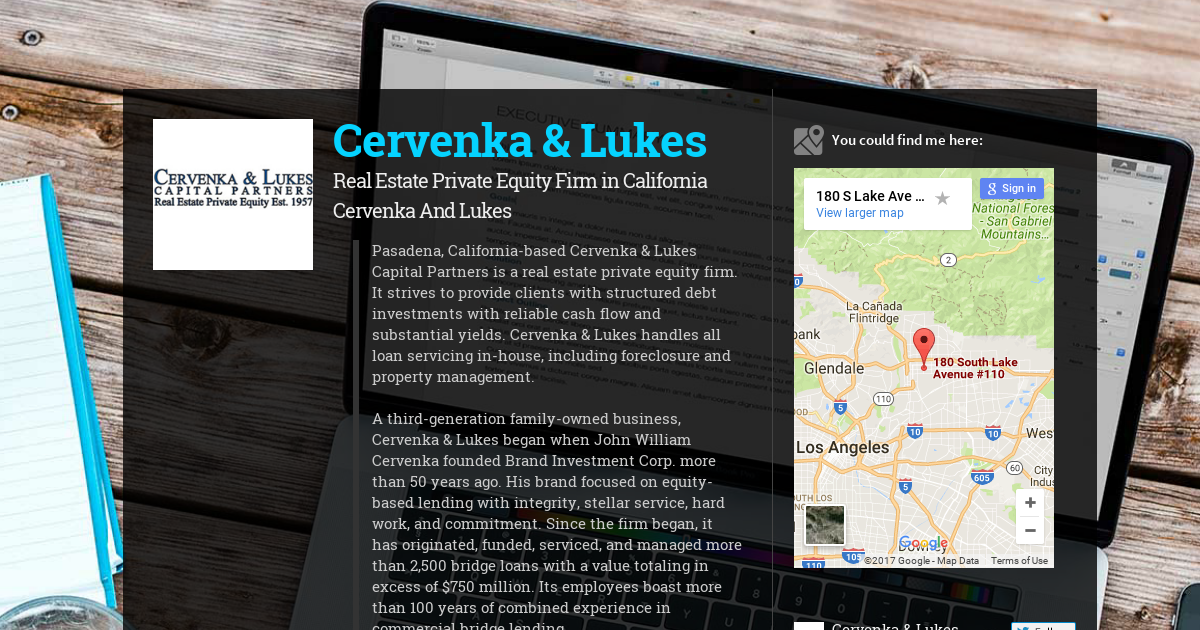 Cervenka & Lukes, Real Estate Private Equity Firm in