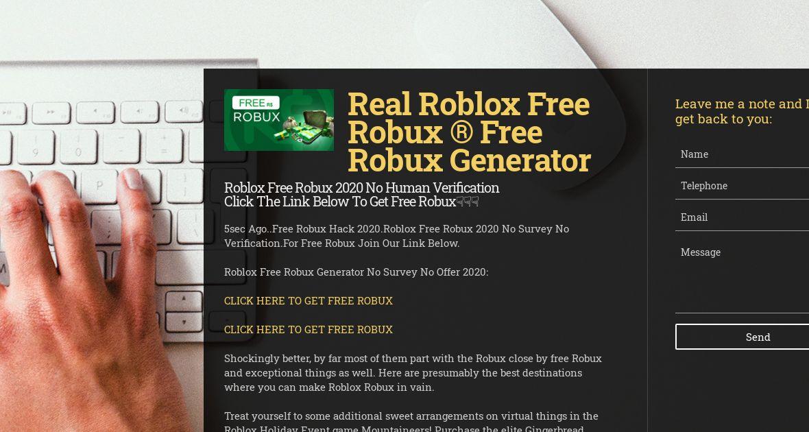 Roblox Free Robux Generator No Verification 2019 On Strikingly Wiseintro Portfolio